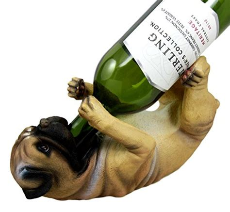 pug wine holder atlantic collectibles adorable canine pug 10 75 quot wine bottle holder caddy