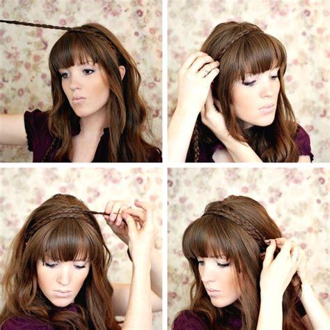tutorial membuat rambut lurus tutorial model kepang rambut bando modern model rambut