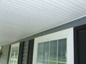 porch beadboard ceiling using vinyl beadboard soffit for porch ceilings