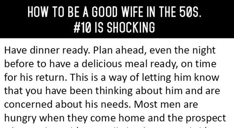 how to be a good wife to your husband hubpages how to be a good wife in the 50s 10 is shocking
