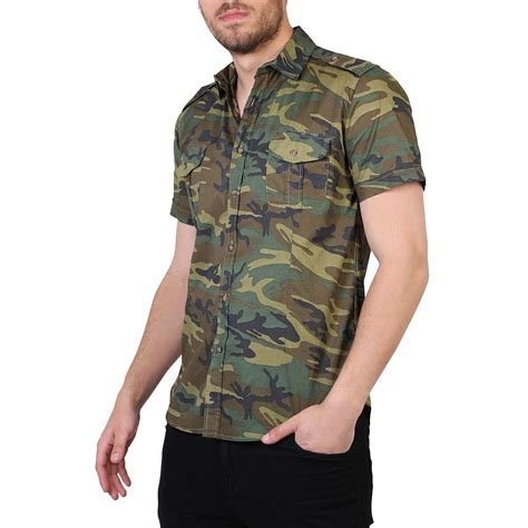 Camouflage Sleeve Shirt camouflage casual combat sleeve cotton slim fit