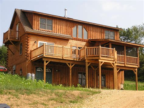 Two Storey Cabin by Two Story With Walk Out Basement 2008