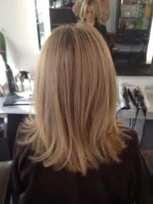 hair in front shoulder length in back before and after cool blonde chic cut neil george