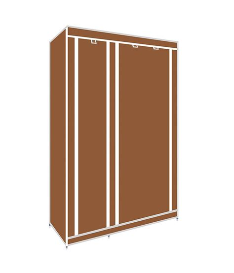 brown canvas foldable wardrobe price at flipkart snapdeal
