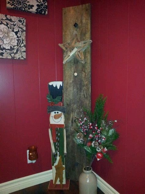 christmas decorations with old barn board barn board