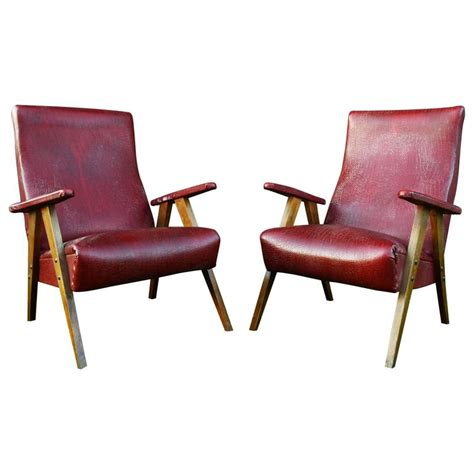 red leather armchairs sale vintage red leather armchairs circa 20th century for sale