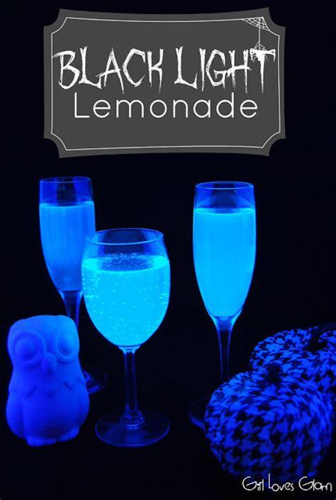 liquids that glow under black light black light lemonade loves glam
