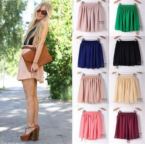 Dress T13 fashion retro high waist pleated layer chiffon dress mini chiffon skirt ebay