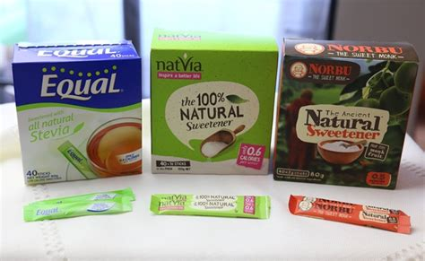 Gula Diet Sachet Sweetener Sachet product review stevia and monkfruit sachets side by side catherine saxelby s foodwatch