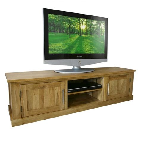 Oak Tv Cabinet With Doors 50 Solid Oak Tv Cabinet Stand With Doors Wide Unit Delamere