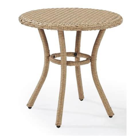 outdoor wicker end tables crosley palm harbor outdoor wicker end table in