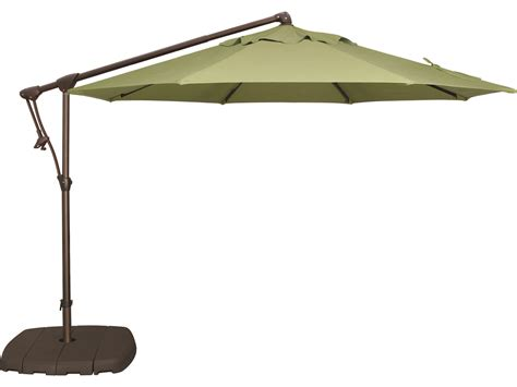 Outdoor Patio Umbrella Treasure Garden Cantilever Aluminum 10 Octagon Tilt Lock Offset Umbrella Ag19