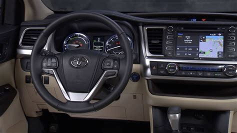 toyota highlander hybrid interior youtube