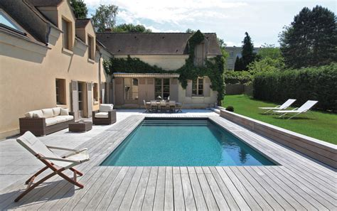 terrasse 8x4m piscine rectangulaire 8x4m liner antracite filtration pf