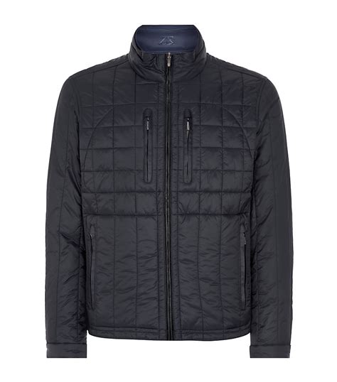 Reversible Quilted Jacket by Zegna Sport Reversible Quilted Navy Jacket In Blue For