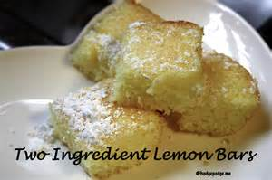 two ingredient lemon bars recipe