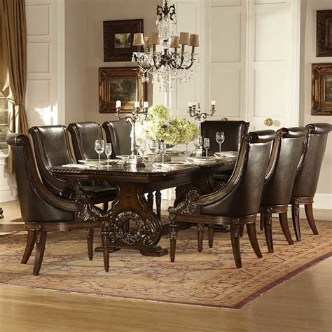 9 piece dining room set homelegance orleans 9 piece double pedestal dining room