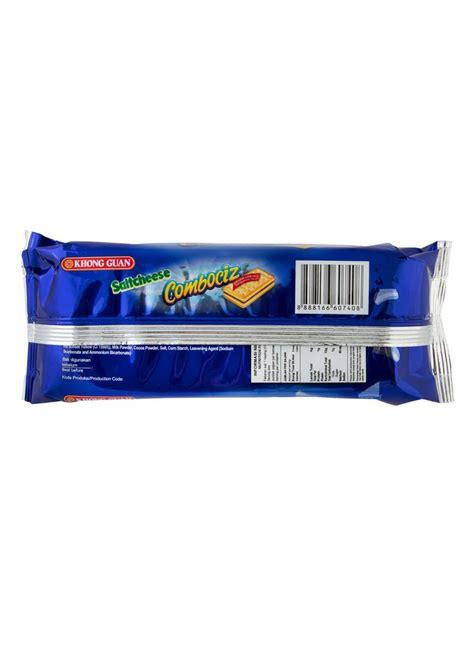 Biskuit Saltcheese Combo khong guan crackers saltcheese combociz pck 190g klikindomaret