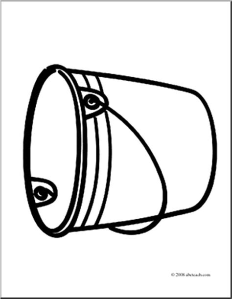 water bucket coloring page how to draw water bucket