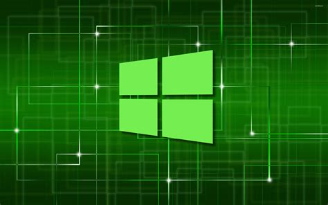 wallpaper windows 10 green windows 10 green simple logo on a network wallpaper