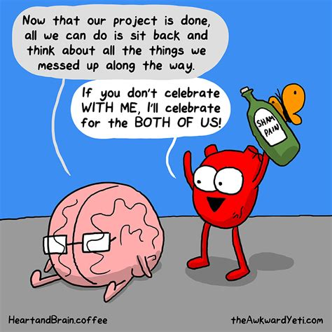 heart and brain an 1449470890 the awkward yeti on twitter quot book is done it s out now what https t co n70usfkepn https