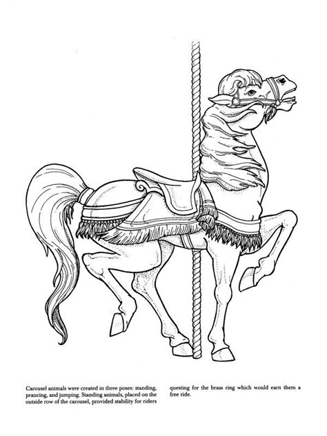 free coloring pages of carousel horse