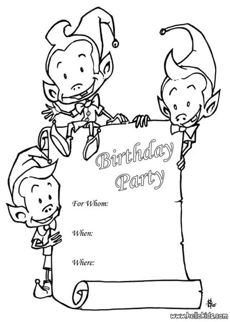 coloring page birthday invitation sprite birthday party invitation coloring pages