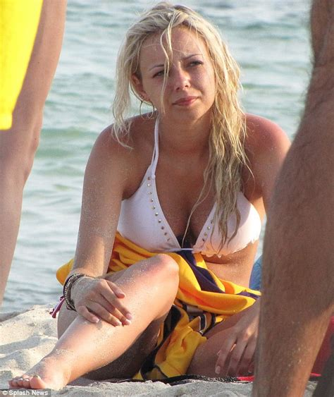 What Colour Is Orange by Sacha Parkinson In Striped As She Holidays In