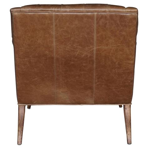 leather tufted chaise lounge roald rustic lodge brown leather tufted armchair chaise