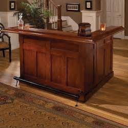 At Home Bar Hillsdale Classic Cherry Large Wrap Around Home Bar