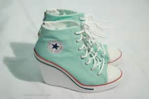 mint colored converse best 25 converse heels ideas on shoes
