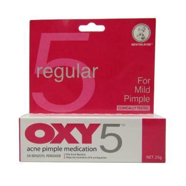 Oxy 5 Regular 10 Gr jual daily deals oxy 5 regular for mild pimple obat jerawat 25 g harga kualitas