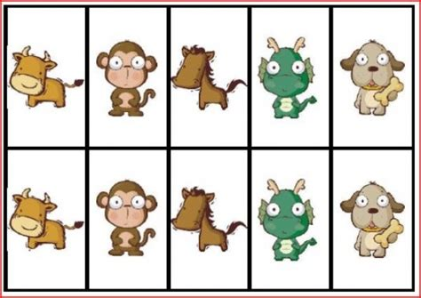 printable zoo animal matching game 7 best images of printable animal memory matching games