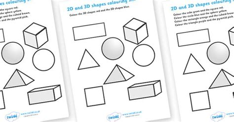 printable 2d shapes ks2 twinkl resources gt gt 2d and 3d shapes colouring sheet