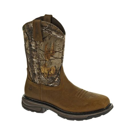 Wolverine From Square wolverine javelina steel toe square toe wellington boot w10373