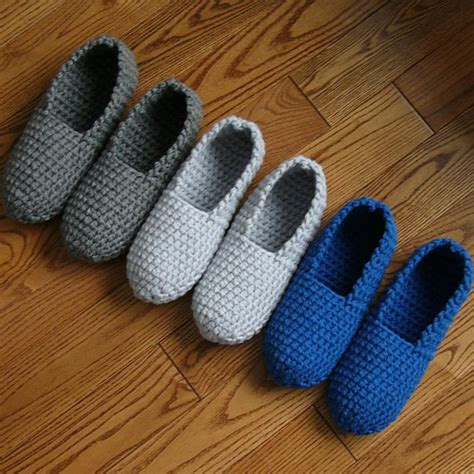 pattern for house slippers items similar to crochet pattern mens house slippers men