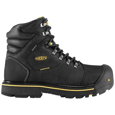 keen steel toe work boots keen 1009173 milwaukee black waterproof steel toe boot