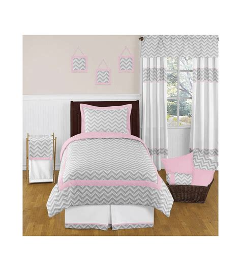 grey twin bedding sweet jojo designs zig zag pink grey chevron twin