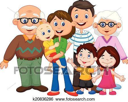 clipart famiglia clip feliz caricatura familia k20836286 buscar