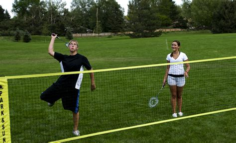 backyard badminton set park and sun sports number 1 portable outdoor