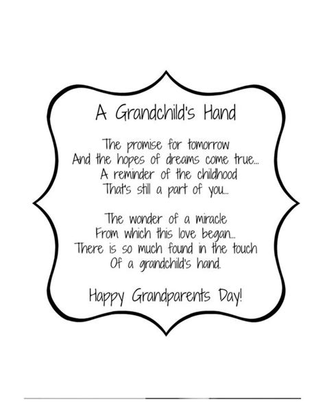 printable children s poems grandparents day poem 2 pdf families pinterest poem