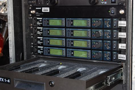 r rack shure uhf r 8 channel rack event wave productions