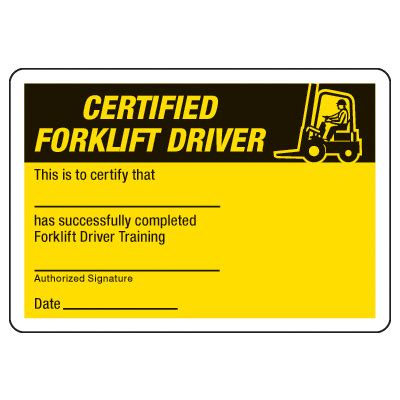 free forklift certification card template certification photo wallet cards certified forklift