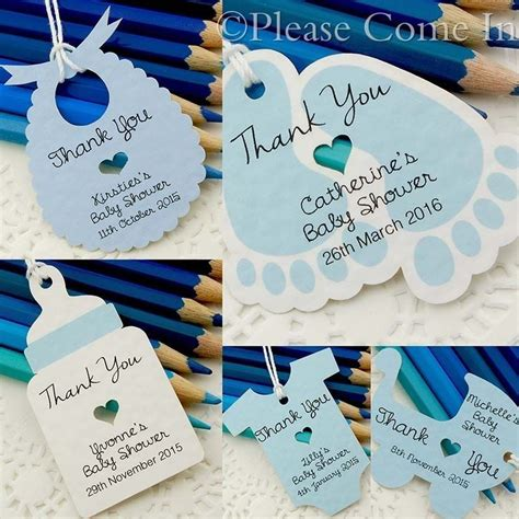 Thank You Tags For Baby Shower by Blue Personalised Baby Shower Christening Favour Tags