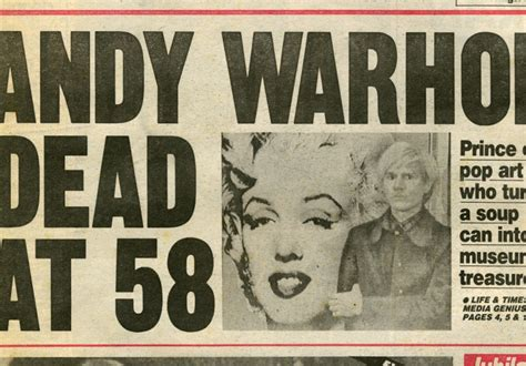 how was andy warhol when he died warhol 15 minutes eternal autre magazine