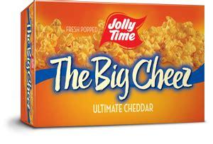 jolly time  big cheez microwave popcorn gourmet