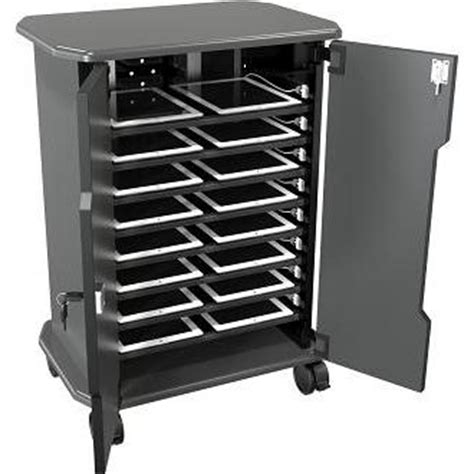Tablet Charging And Storage Cabinet For 16 Netbooks On Wheels