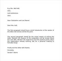 Resignation Letter In Word Format by Resignation Letter Format 9 Free Documents In Pdf Word Sle Templates