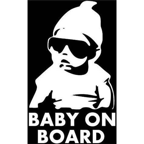 Baby On Board Sticker by Baby On Board Carlos Hangover Funny Car Auto