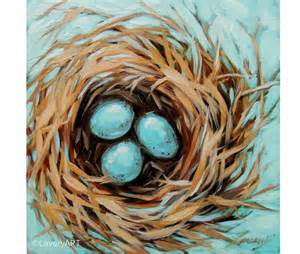 decorative robins eggs birds nest painting robin s eggs nest bird painting 6x6